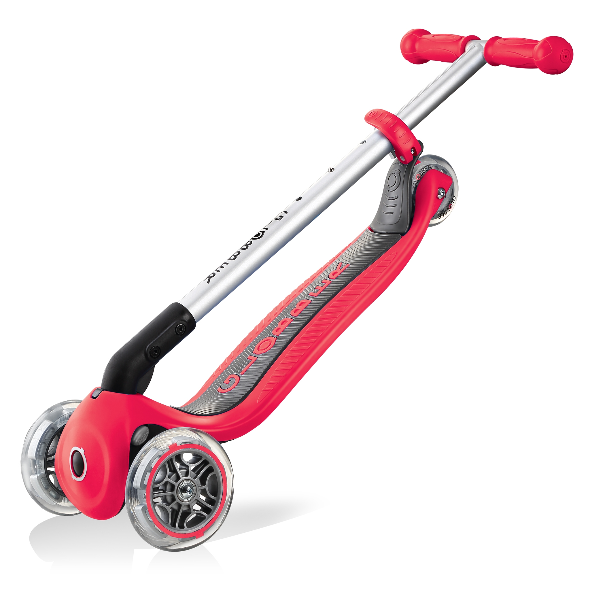 PRIMO-FOLDABLE-3-wheel-foldable-scooter-for-kids-trolley-mode-new-red