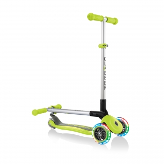 PRIMO-FOLDABLE-LIGHTS-3-wheel-fold-up-scooter-for-kids-lime-green