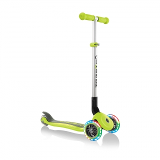 PRIMO-FOLDABLE-LIGHTS-3-wheel-foldable-scooter-light-up-scooter-for-kids-lime-green