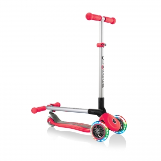 PRIMO-FOLDABLE-LIGHTS-3-wheel-fold-up-scooter-for-kids-new-red