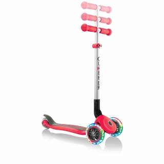 PRIMO-FOLDABLE-LIGHTS-adjustable-scooter-for-kids-new-red