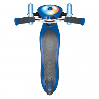 Globber-ELITE-PRIME-best-3-wheel-foldable-scooter-for-kids-with-light-up-scooter-deck-navy-blue