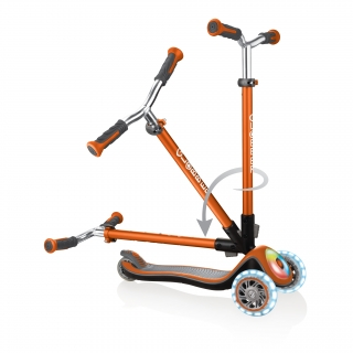 Globber-ELITE-PRIME-best-3-wheel-scooter-for-kids-with-patented-folding-system-copper