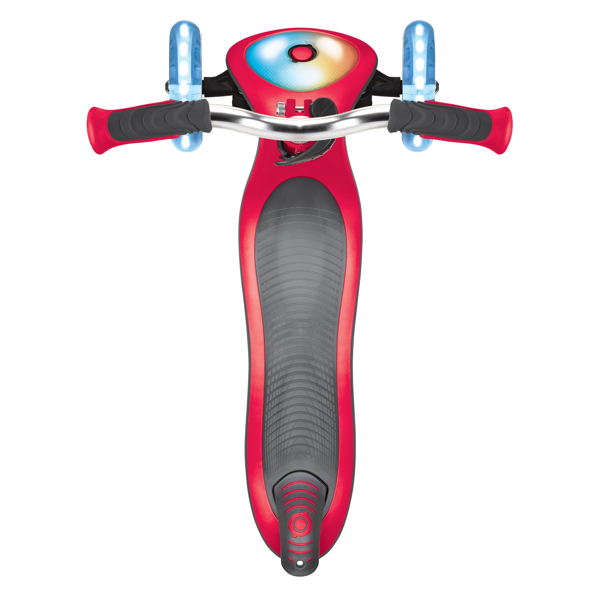 Globber-ELITE-PRIME-best-3-wheel-foldable-scooter-for-kids-with-light-up-scooter-deck-new-red