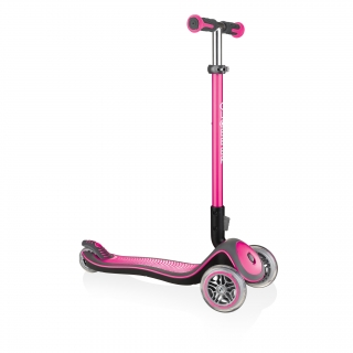 Globber-ELITE-DELUXE-Best-3-wheel-foldable-scooter-for-kids-aged-3+-deep-pink