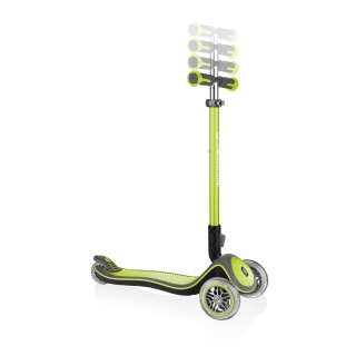 Globber-ELITE-DELUXE-3-wheel-adjustable-scooter-for-kids-with-anodized-T-bar-lime-green