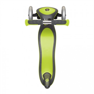 Globber-ELITE-DELUXE-3-wheel-foldable-scooter-for-kids-with-extra-wide-scooter-deck-lime-green