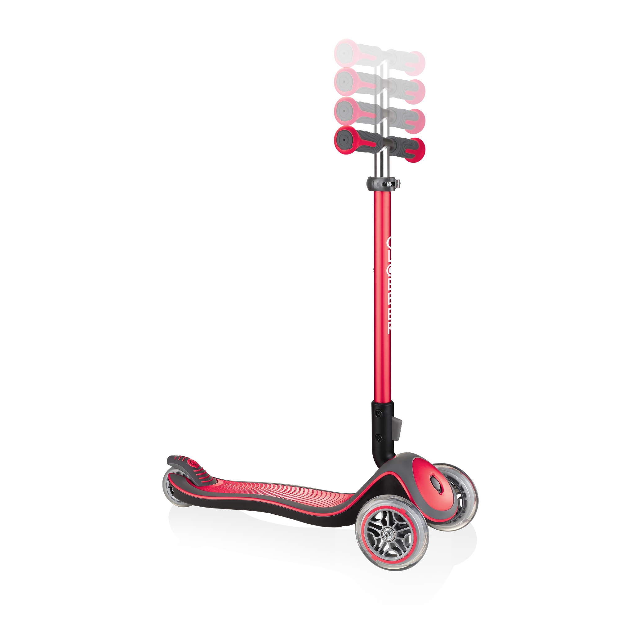 Globber-ELITE-DELUXE-3-wheel-adjustable-scooter-for-kids-with-anodized-T-bar-new-red