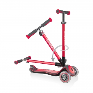Globber-ELITE-DELUXE-3-wheel-fold-up-scooter-for-kids-new-red