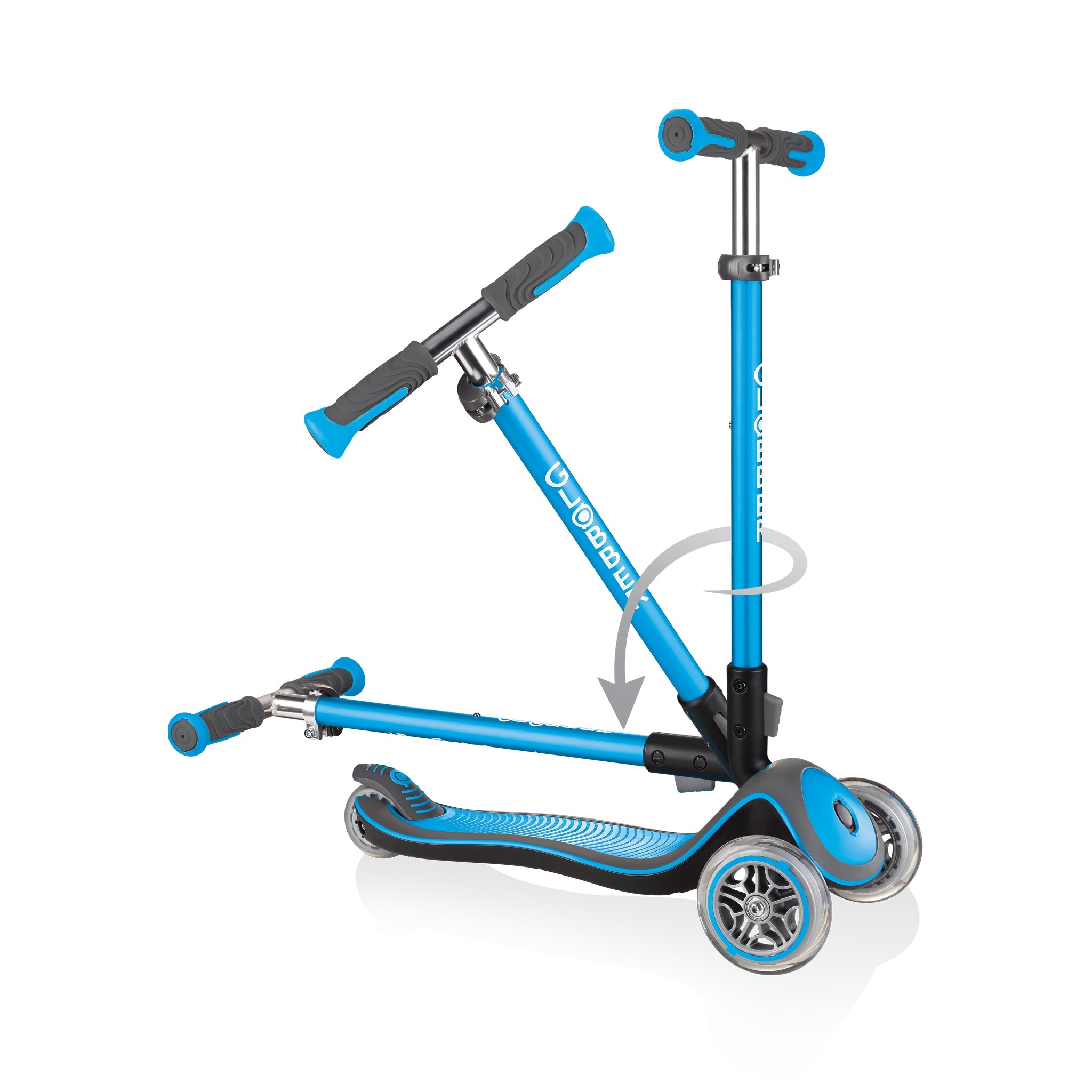 Globber-ELITE-DELUXE-3-wheel-fold-up-scooter-for-kids-sky-blue