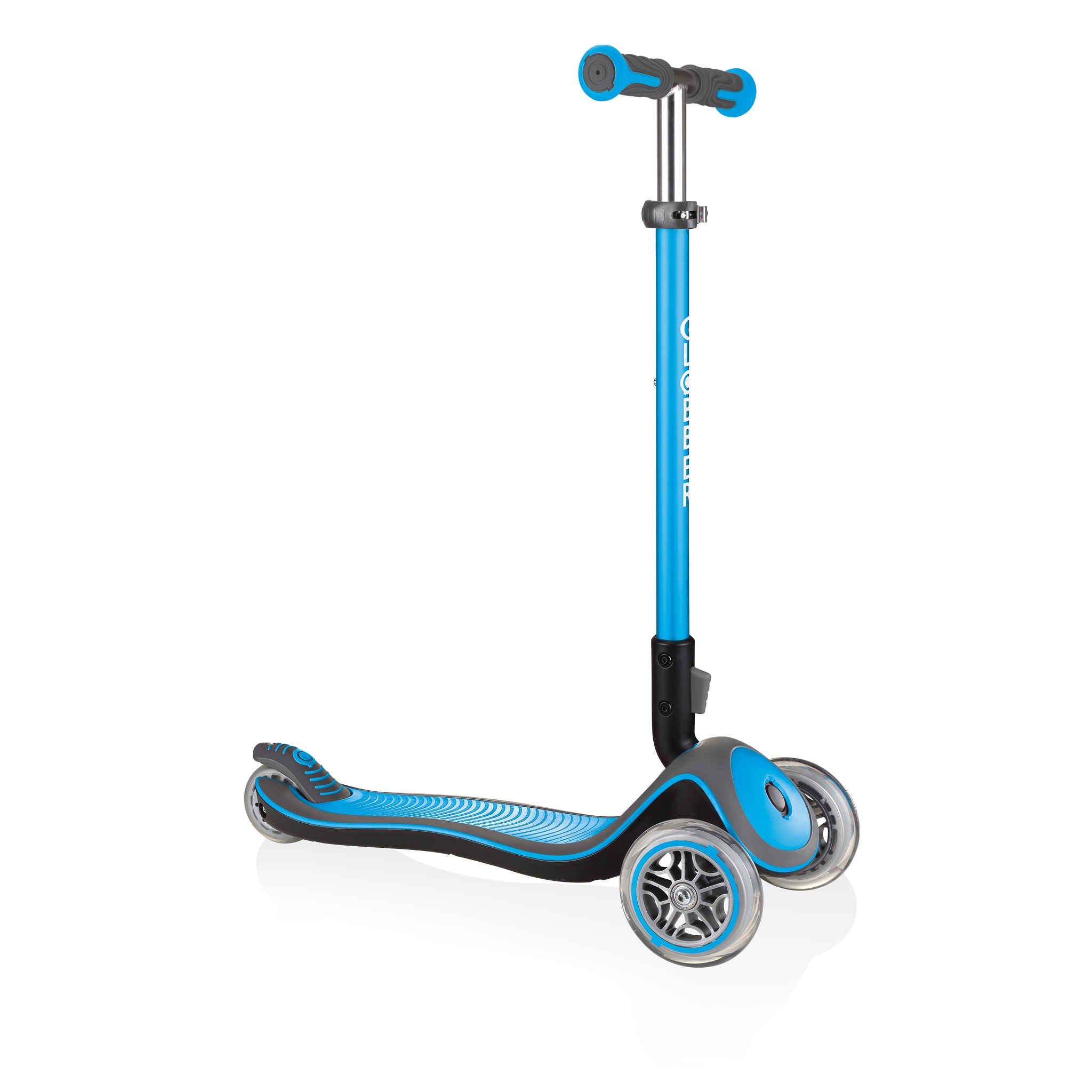 Globber-ELITE-DELUXE-Best-3-wheel-foldable-scooter-for-kids-aged-3+-sky-blue