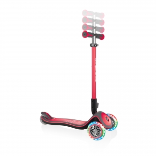 Globber-ELITE-DELUXE-LIGHTS-3-wheel-adjustable-scooter-for-kids-with-light-up-scooter-wheels-new-red