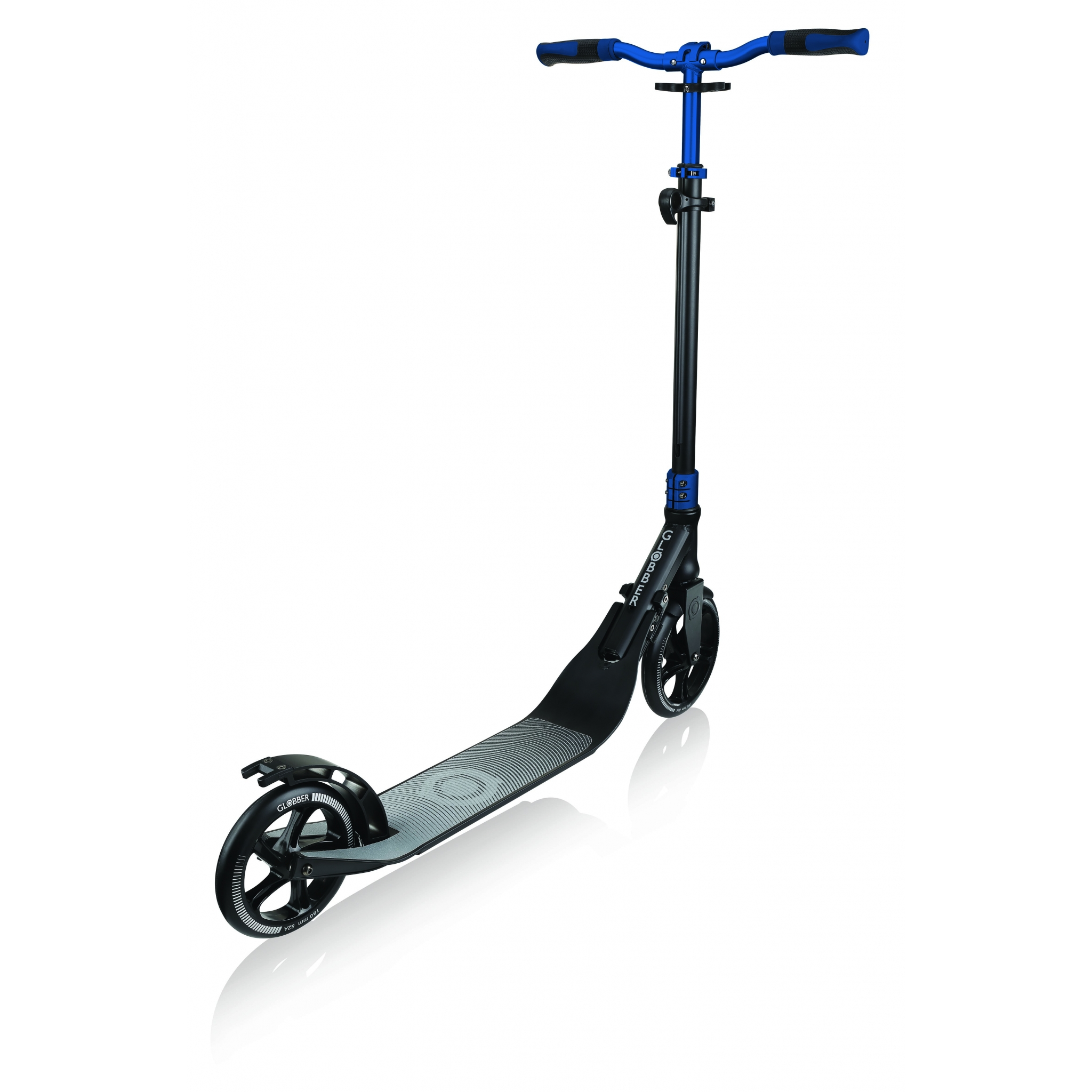 Globber-ONE-NL-205-180-DUO-2-wheel-foldable-scooter-for-adults-with-foldable-handlebar-cobalt-blue