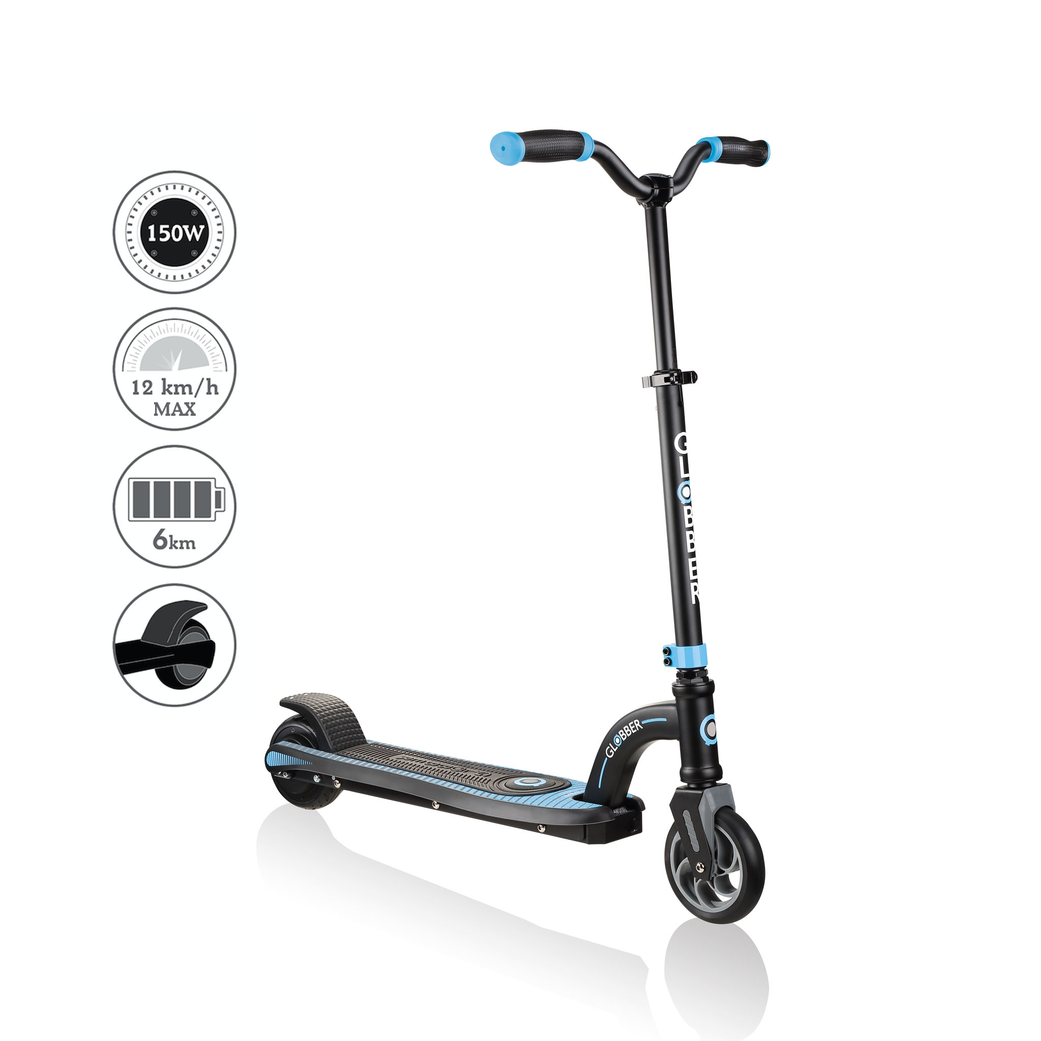 Globber-ONE-K-E-MOTION-10-best-electric-scooter-for-kids-aged-8+-sky-blue