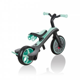 Globber-EXPLORER-TRIKE-4in1-all-in-one-baby-tricycle-and-kids-balance-bike-with-smart-pedal-storage_mint