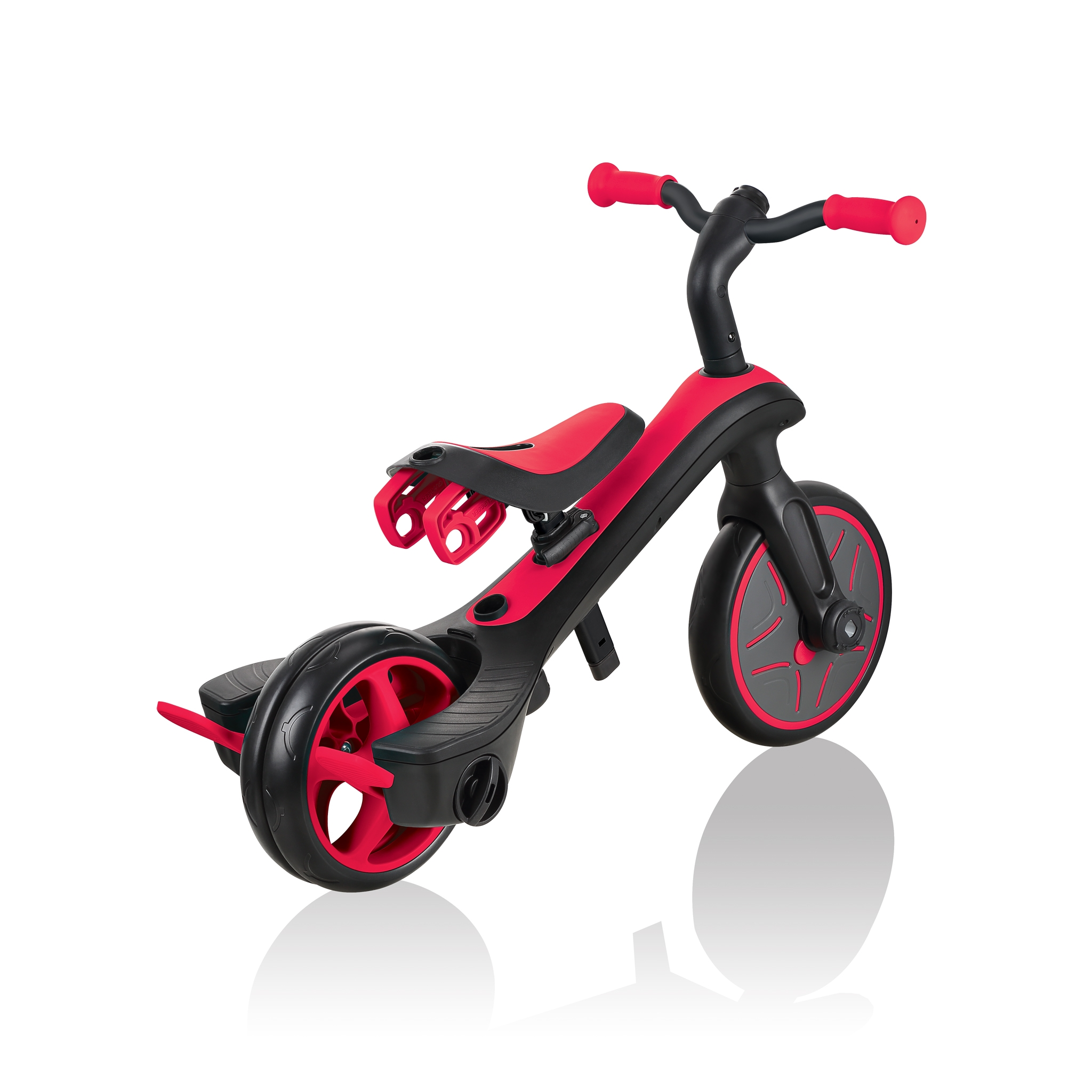 Globber-EXPLORER-TRIKE-3in1-all-in-one-baby-tricycle-and-kids-balance-bike-with-smart-pedal-storage_new-red