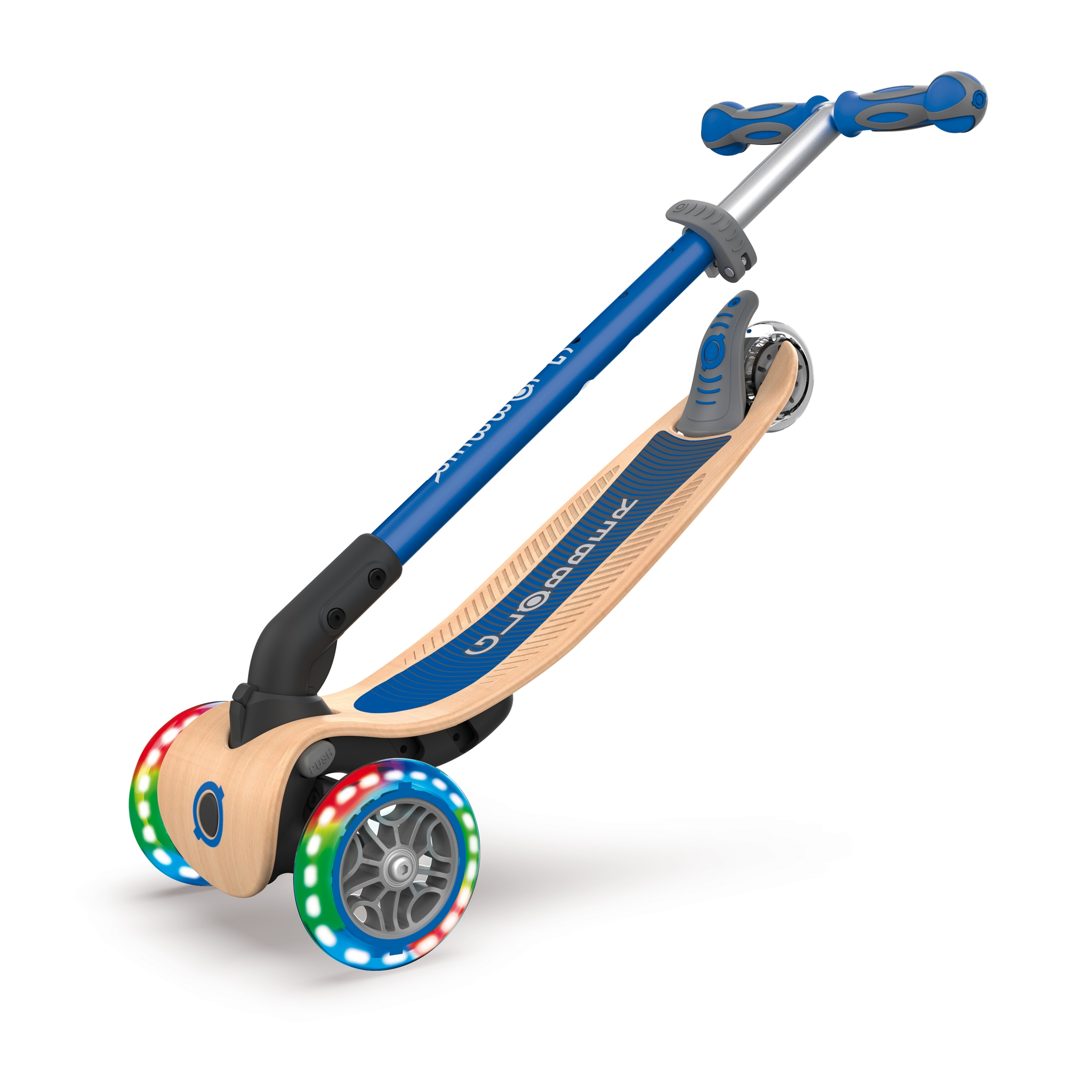 PRIMO-FOLDABLE-WOOD-LIGHTS-3-wheel-foldable-light-up-scooter-with-7-ply-wooden-scooter-deck-trolley-mode-compatible_navy-blue