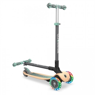 PRIMO-FOLDABLE-WOOD-LIGHTS-3-wheel-foldable-scooter-with-7-ply-wooden-scooter-deck-and-battery-free-light-up-wheels_pastel-green