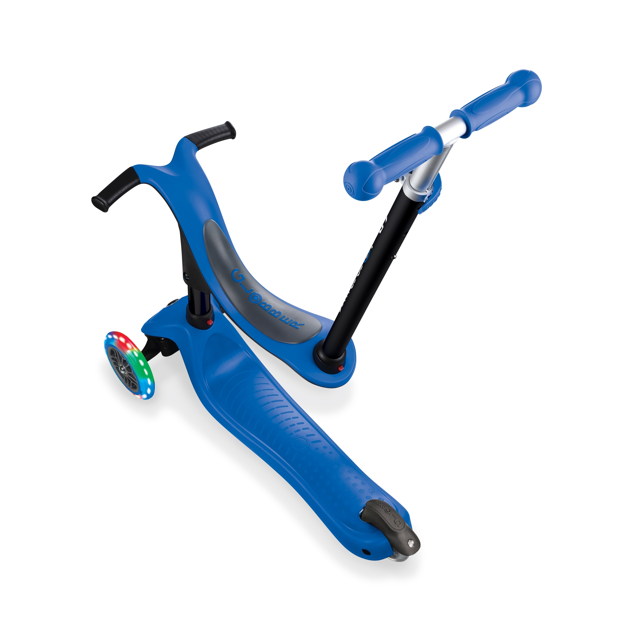 GO-UP-SPORTY-LIGHTS-ride-on-walking-bike-scooter-screwless-design-navy-blue
