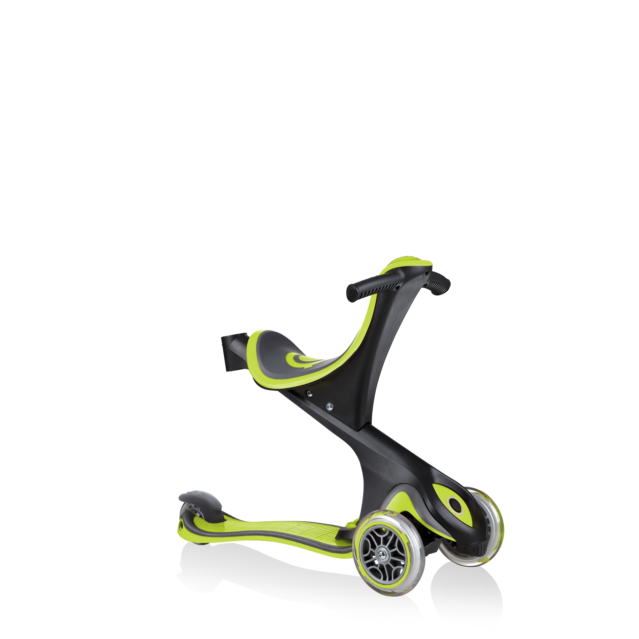 GO-UP-COMFORT-scooter-with-seat-walking-bike-lime-green 2