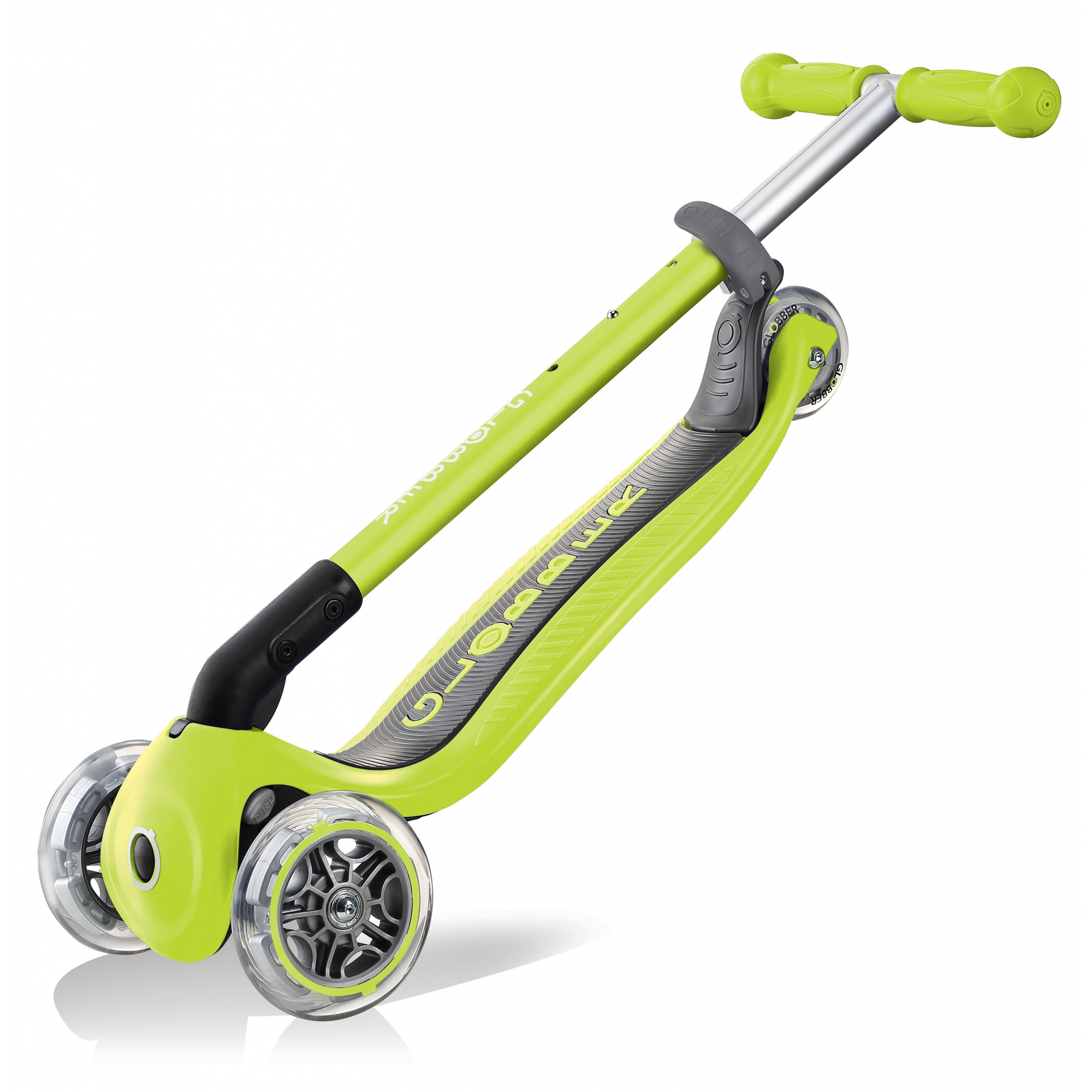 PRIMO-FOLDABLE-3-wheel-foldable-scooter-for-kids-trolley-mode-lime-green