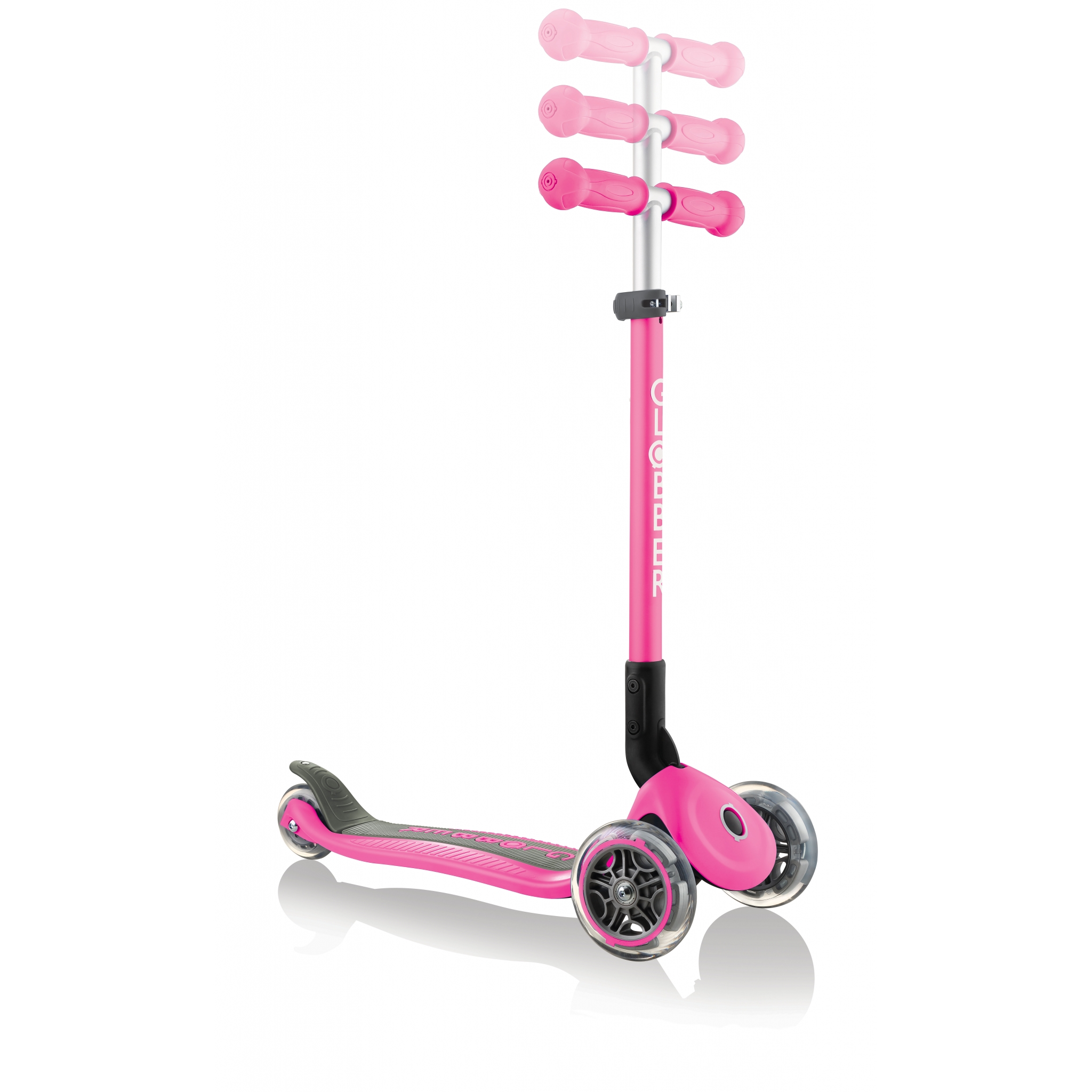 PRIMO-FOLDABLE-adjustable-scooter-for-kids-neon-pink