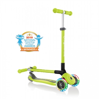 PRIMO-FOLDABLE-LIGHTS-3-wheel-fold-up-scooter-for-kids-lime-green2