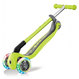 PRIMO-FOLDABLE-LIGHTS-3-wheel-foldable-scooter-for-kids-trolley-mode-lime-green