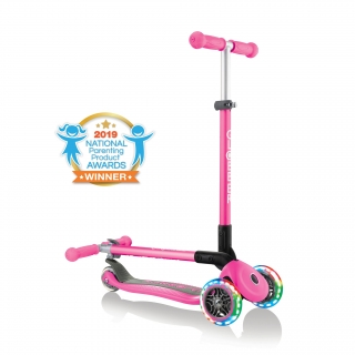 PRIMO-FOLDABLE-LIGHTS-3-wheel-fold-up-scooter-for-kids-neon-pink2
