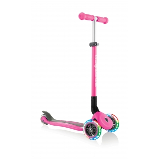 PRIMO-FOLDABLE-LIGHTS-3-wheel-foldable-scooter-light-up-scooter-for-kids-neon-pink