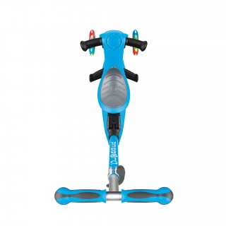 GO-UP-DELUXE-LIGHTS-ride-on-walking-bike-scooter-with-light-up-wheels-and-extra-wide-3-height-adjustable-seat-sky-blue thumbnail 2