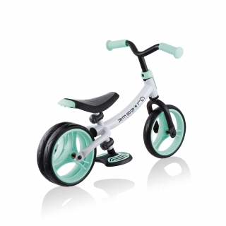 GO-BIKE-DUO-dual-rear-wheel-toddler-balance-bike-aids-balance-and-develops-motor-skills_mint thumbnail 4
