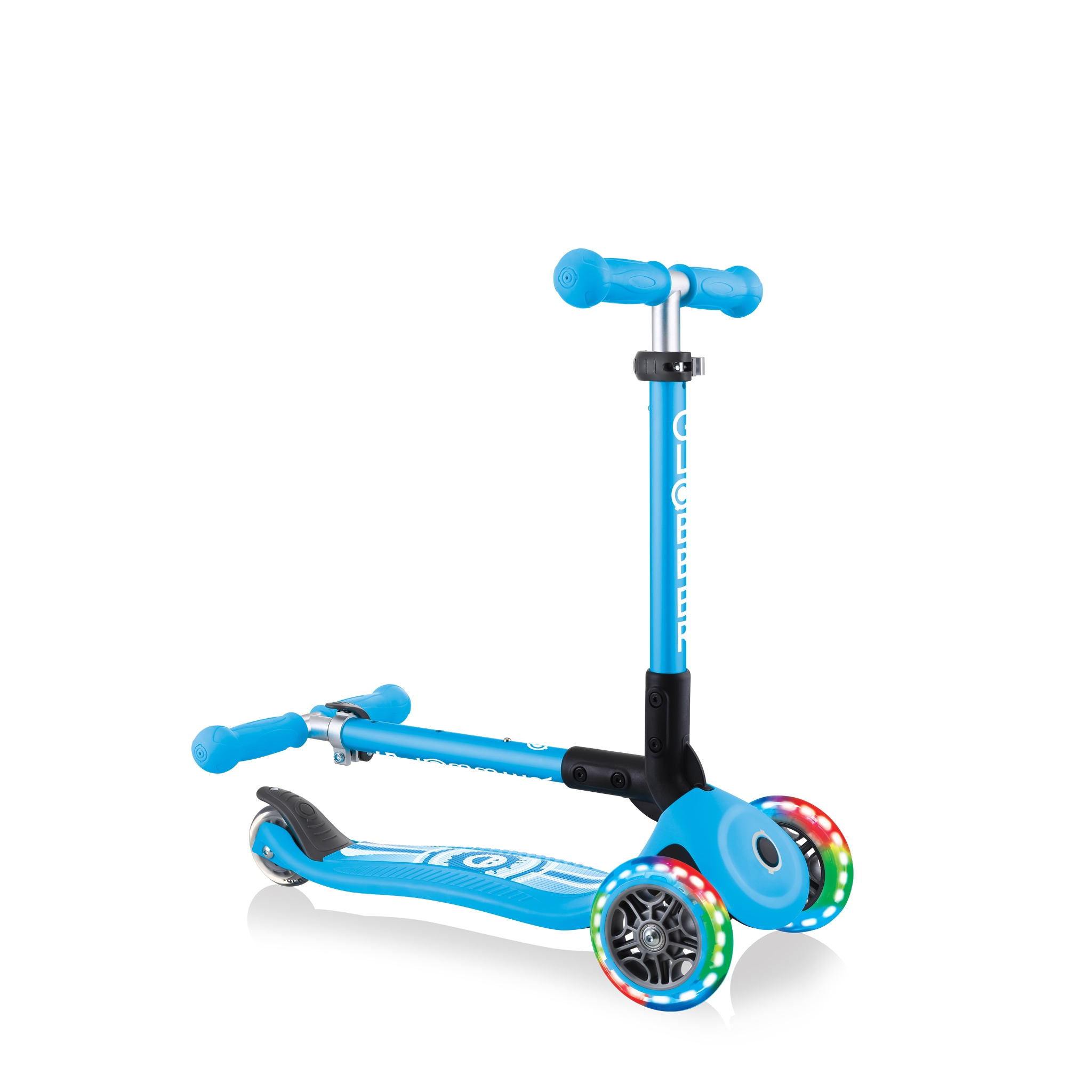 Foldable-3-wheel-scooter-for-toddlers-Globber-JUNIOR-FOLDABLE-FANTASY-LIGHTS