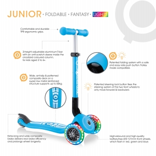 Product (hover) image of JUNIOR FOLDABLE FANTASY LIGHTS - 3 Wheel Scooter for Toddlers
