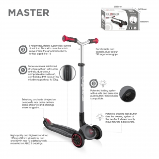 Globber-MASTER-premium-3-wheel-adjustable-scooter-for-kids-aged-4-to-14 thumbnail 2
