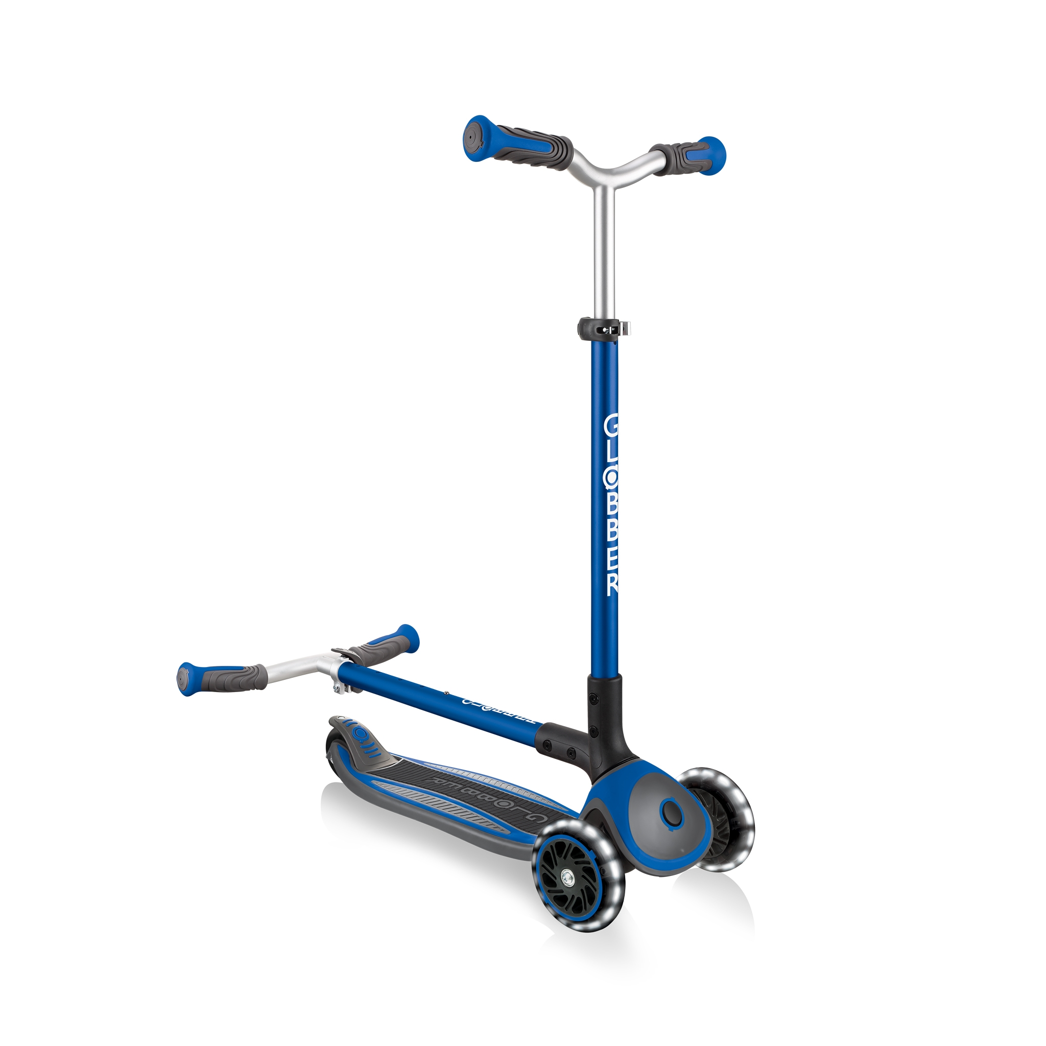 Globber-MASTER-LIGHTS-convenient-foldable-3-wheel-light-up-scooter-for-kids-with-patented-folding-system_dark-blue 3