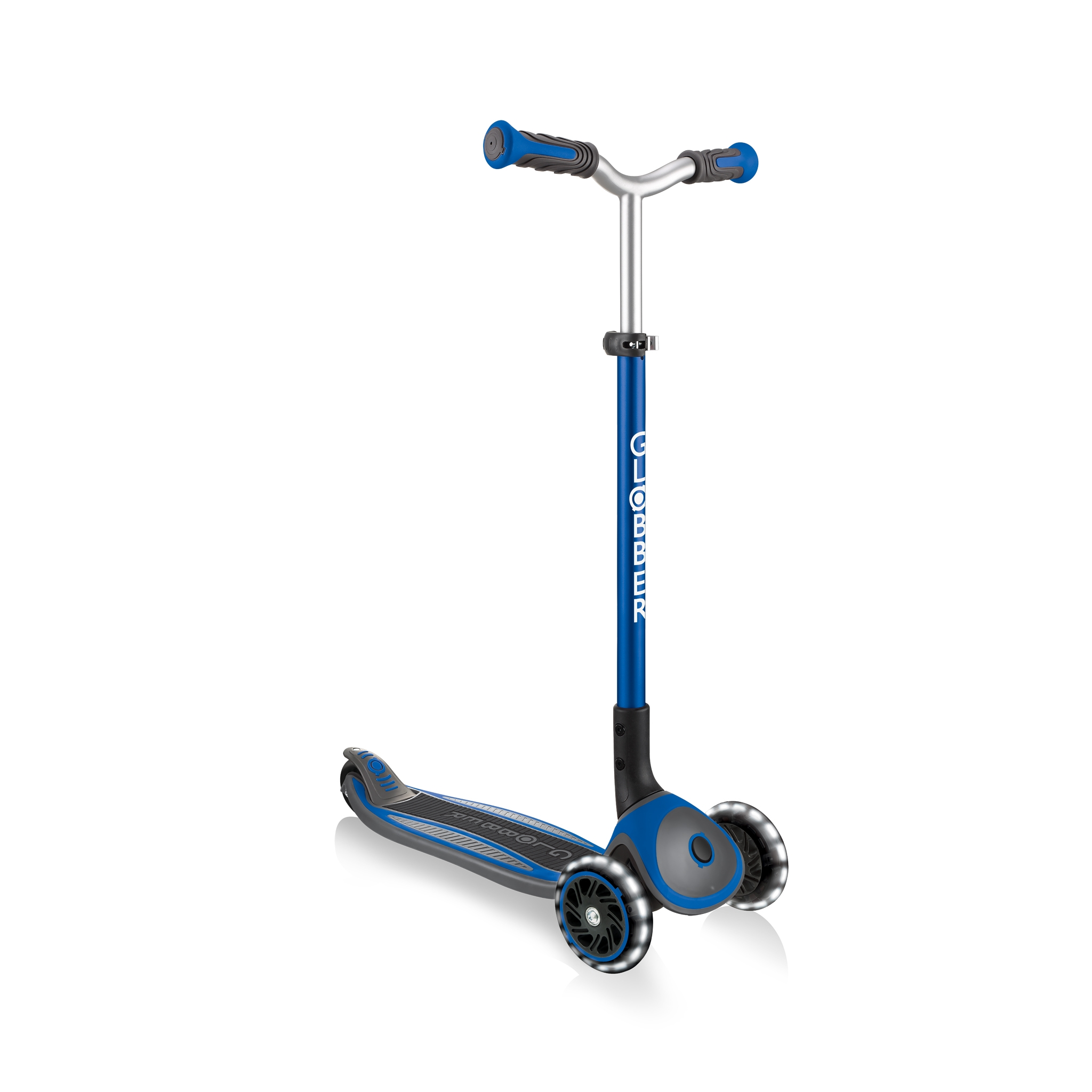 Globber-MASTER-LIGHTS-premium-3-wheel-foldable-light-up-scooter-for-kids-aged-4-to-14_dark-blue 1