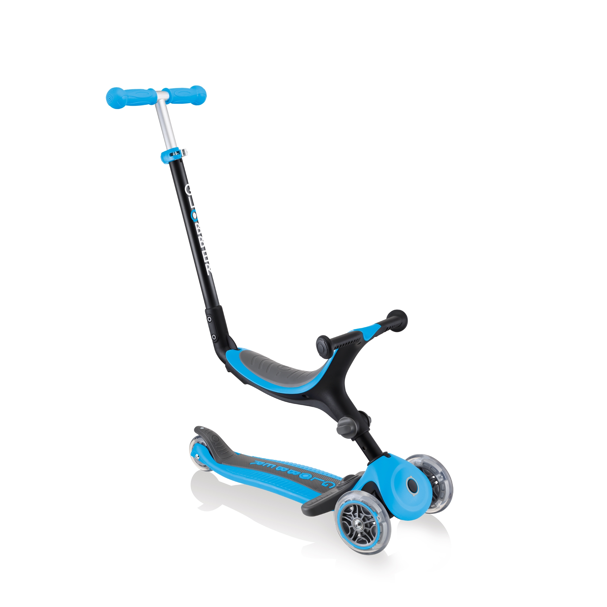 Globber-GO-UP-FOLDABLE-PLUS-3-in-1-scooter-for-toddlers-ride-on-mode 0