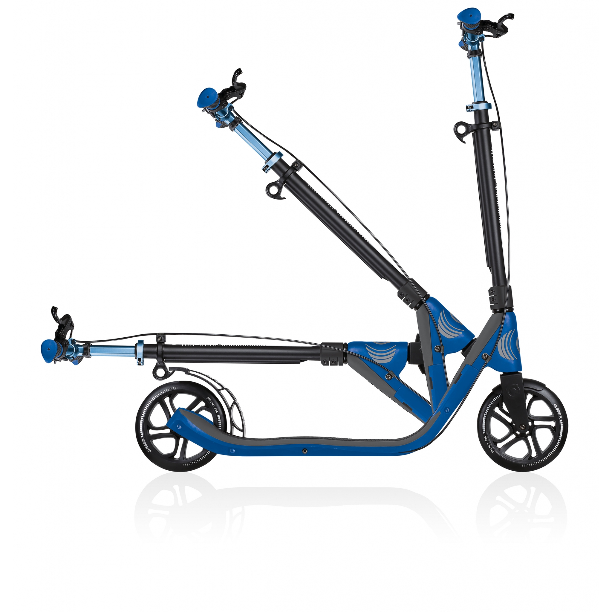 foldable scooter for adults with handbrake - Globber ONE NL 205 DELUXE 3