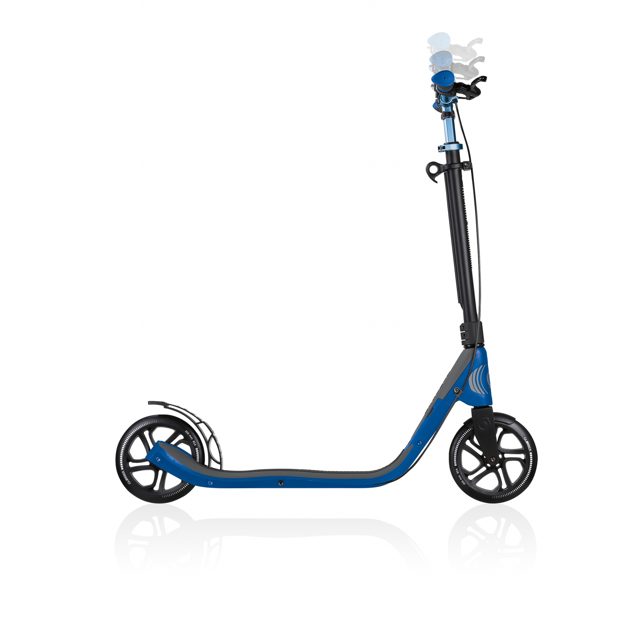 foldable scooter for adults with handbrake - Globber ONE NL 205 DELUXE 4