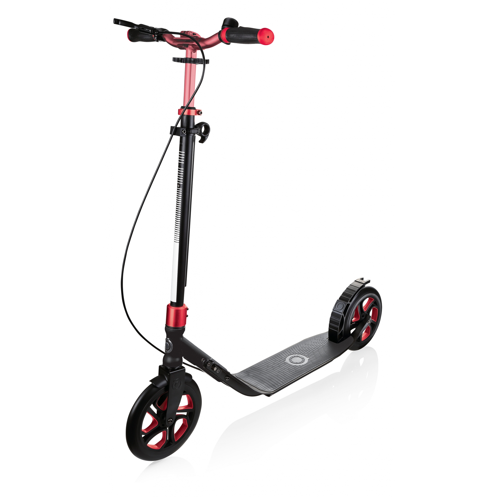 Globber One Nl 230 Ultimate 2 Wheel Scooter For S Fold Up With Handbrake Bell 230mm Wheels