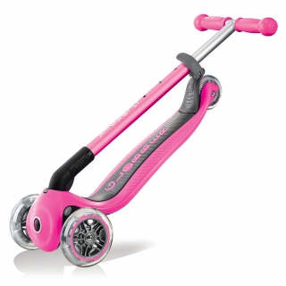 PRIMO-FOLDABLE-3-wheel-foldable-scooter-for-kids-trolley-mode-neon-pink thumbnail 4