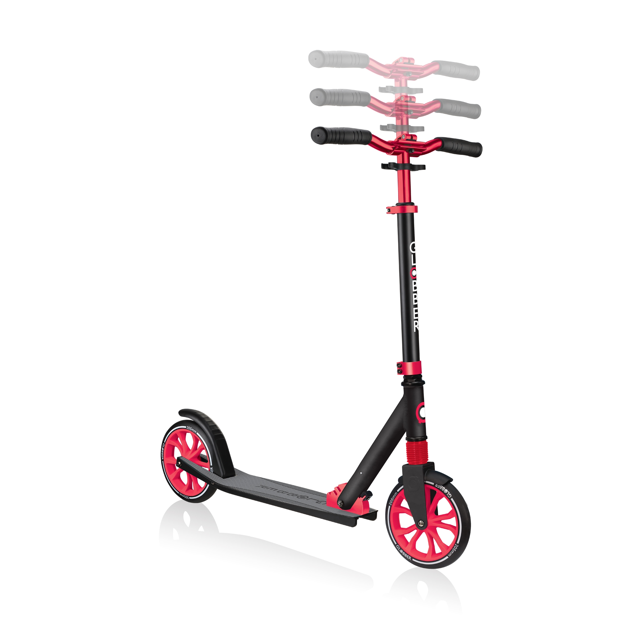 Globber-NL-205-205mm-big-wheel-scooter-for-kids-3-height-adjustable-scooter-t-bar 2