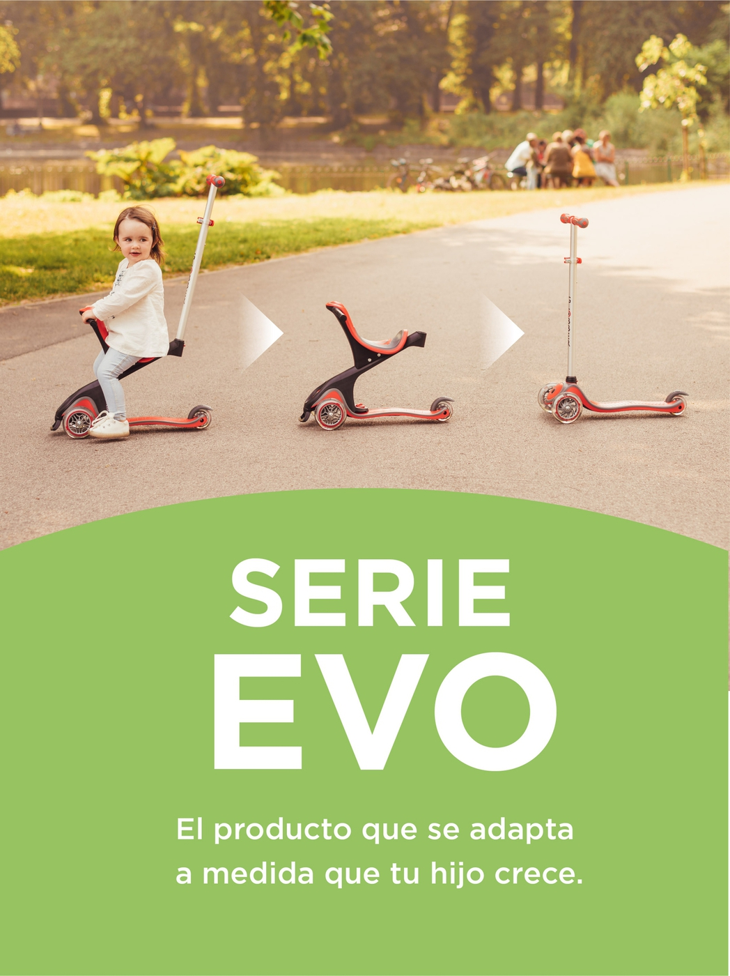 The scooter with seat that adapts as your child grows