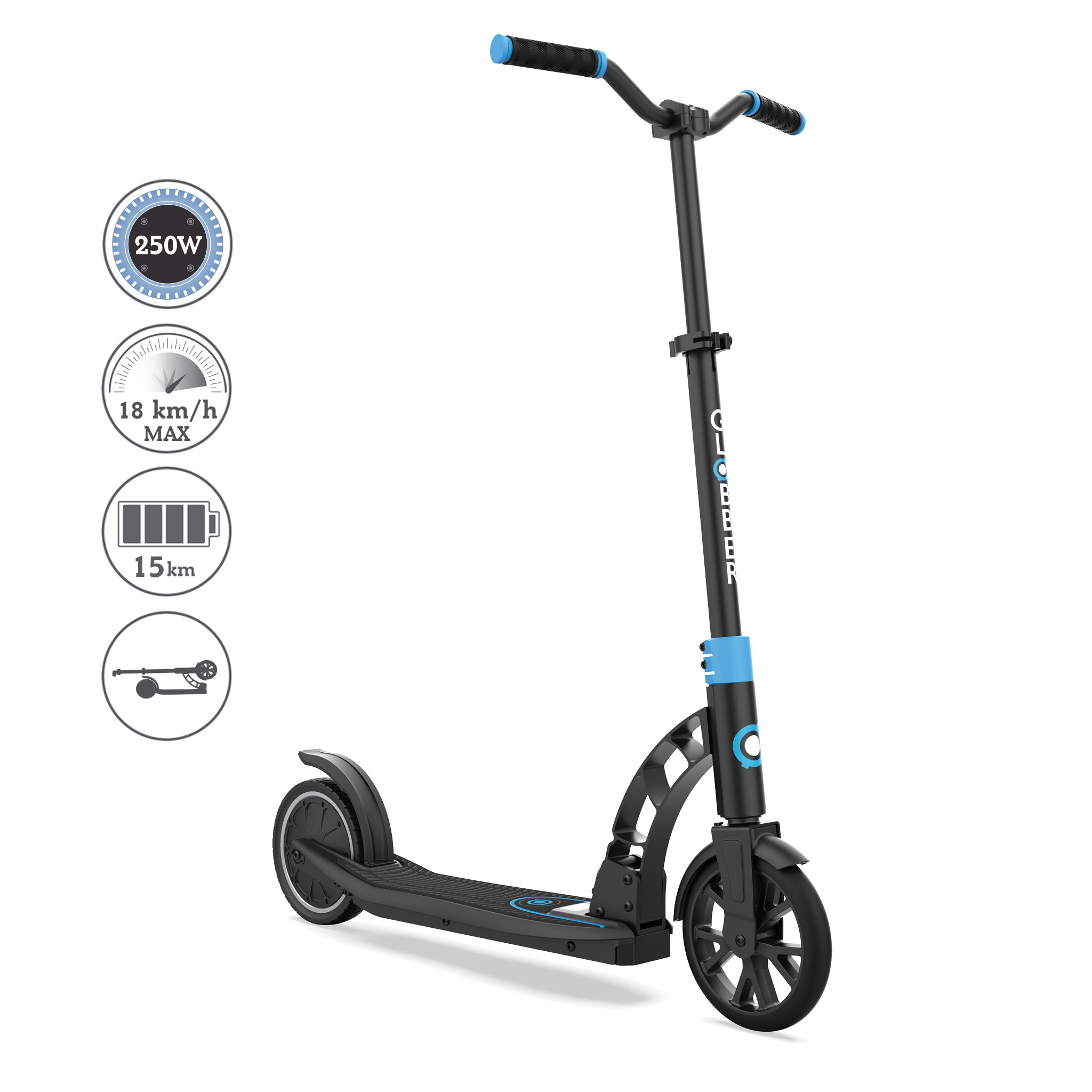 Globber-ONE-K-E-MOTION-15-foldable-electric-scooter-for-teens-and-young-adults-aged-14+-sky-blue