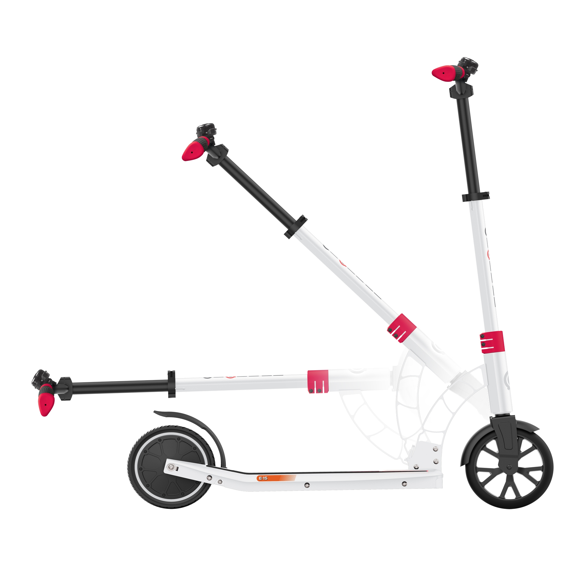 Globber-ONE-K-E-MOTION-15-electric-scooter-for-teens-and-young-adults-robust-foldable-e-scooter-white-red