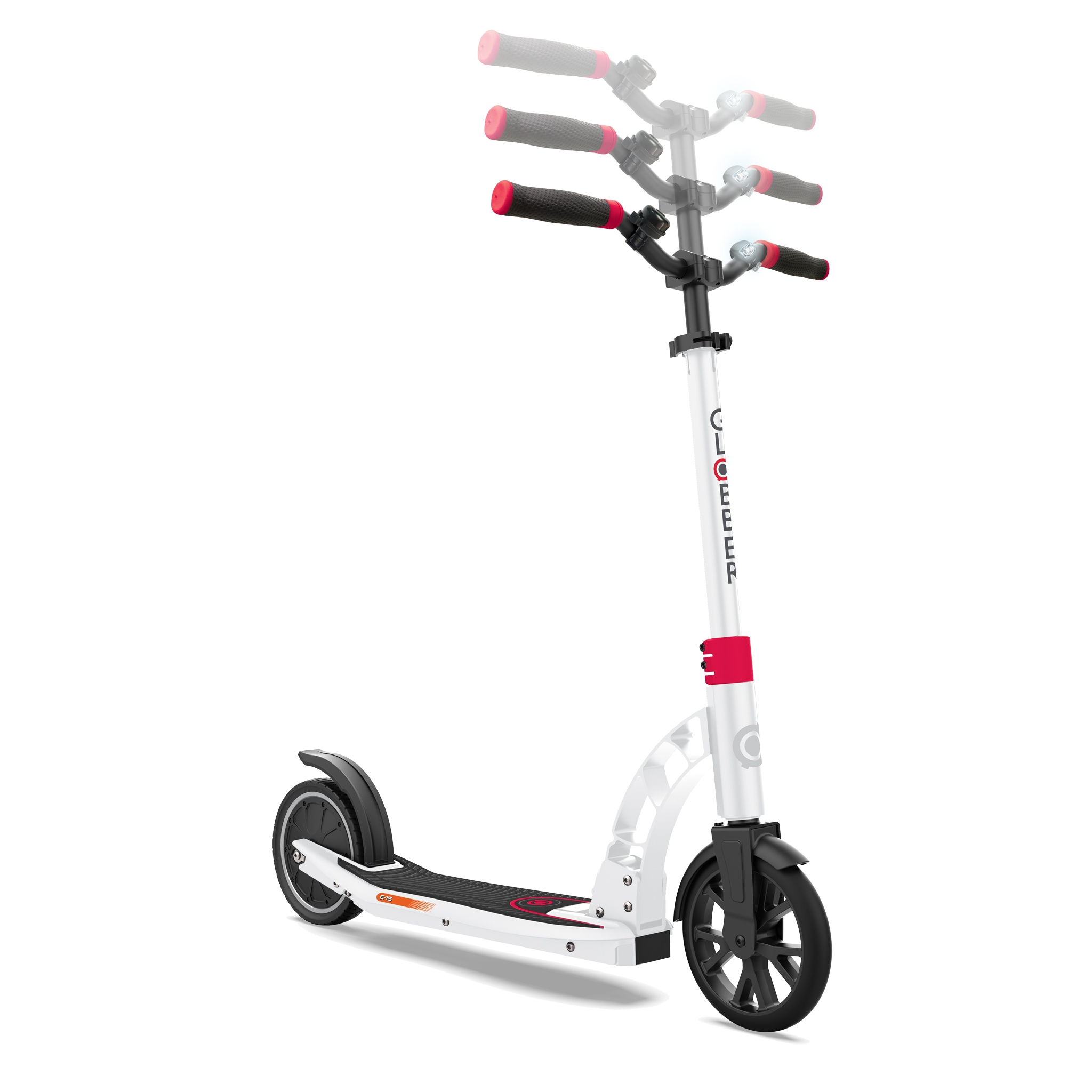 Globber-ONE-K-E-MOTION-15-foldable-electric-scooter-for-teens-and-young-adults-aged-14+-adjustable-e-scooter-white-red