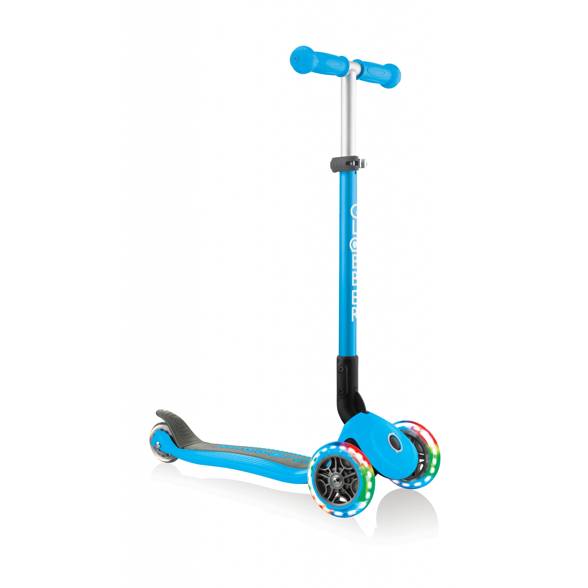 PRIMO-FOLDABLE-LIGHTS-3-wheel-foldable-scooter-light-up-scooter-for-kids-sky-blue 4