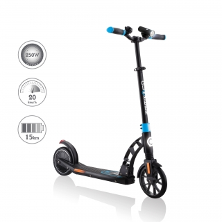 Globber-ONE-K-E-MOTION-15-electric-scooter-with-front-suspension-and-rear-ISO-brake-lights-and-front-ISO-LED-lights thumbnail 0