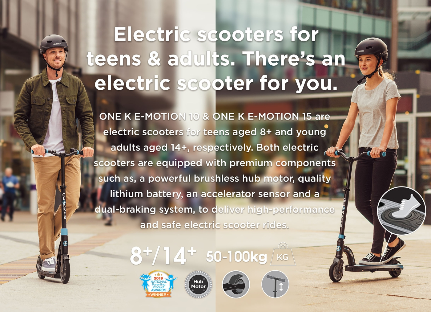 Electric scooters for kids, teens and young adults